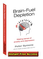 Brain-Fuel Depletion is a simple model that explains how stress depletes brain-fuels; and hence causes symptoms such as exhaustion, insomnia, anxiety, panic attacks, suicidal thoughts; and conditions such as postnatal depression, Chronic Fatigue Syndrome and Irritable Bowel Syndrome.
