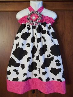 Cow print love it my little girl would so wear this lol Cowgirl Dresses, Baby Girl Dresses, Cute Dresses, Rodeo Outfits, Country Outfits, Little Girl Outfits, Kids Outfits, Baby Pageant, Pink Birthday