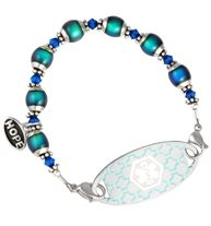 Color Changing Mood Beads Medical ID Bracelet | Lauren's Hope