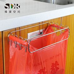Home & Garden Efficient Kitchen Garbage Bags Storage Rack Trash Bag Holder Hanging Stand Rack Plastic With Traditional Methods