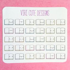 I hope these stickers are just what you are looking for. They are perfect to use with your favorite planner. Use these tiny books to remind
