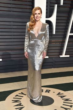 Amy Adams In Tom Ford - At the Vanity Fair Oscar Party