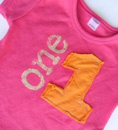 Little girls Birthday Shirt vintage applique by CantaloupeCorner, $25.00
