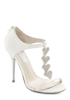 Adorable #wedding shoes! // Betsey Johnson Luxe of Love Heel in White, ModCloth $130