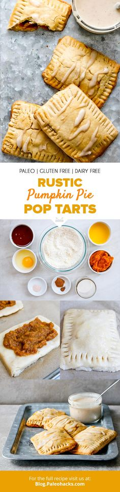 Four Kitchen Decorating Suggestions Which Can Be Cheap And Simple To Carry Out Bake Up These Toasty Pumpkin Pie Pop Tarts Without The Gluten Get The Full Recipe Here: Https:Paleo. Paleo Dessert, Dessert Recipes, Paleo Recipes, Tart Recipes, Delicious Recipes, Cooking Recipes, Desserts, Breakfast Pastries, Paleo Breakfast