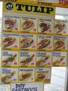 Danish hotdogs.