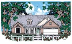 Country House Plan with 1299 Square Feet and 3 Bedrooms from Dream Home Source | House Plan Code DHSW54234