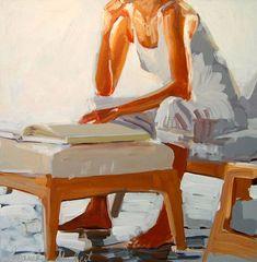 Laura Lacambra Shubert - Reading in White
