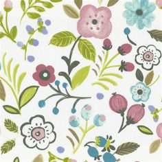 Sweet Briar Rose Fabric by the Yard | Carousel Designs  #baby #nursery #fabric