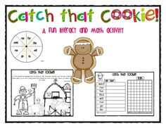 gingerbread man...This is a fun center activity that incorporates both literacy and math.  Kids spin the word spinner, read the word and then use magnifying glasses ...
