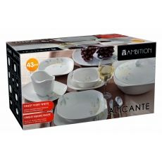 Komplet obiadowo Alicante 43-elementowy AMBITION