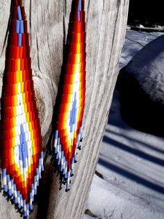 Native American Inspired Beaded Earrings from Etsy