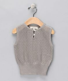 Take a look at this Pearl Gray Elinor Merino Vest - Infant & Kids by Poppy Rose on #zulily today!