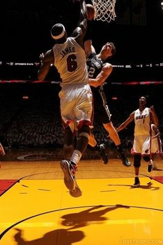 Lebron James block nba mvp lebron james nba finals nba playoffs tiago splitter heat vs spurs the block