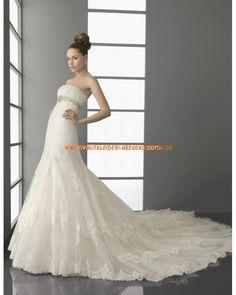 Unique Brautkleider im Meerjungfrauenstil mit Spitze langer Schleppe kaufen 2013