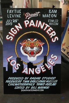 Showcard I did for the Sign Painters Movie. Thanks Faythe and Sam, great documentary.