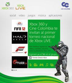 Primer torneo oficial de XBOX LIVE organizado por Xbox Colombia y Cine Colombia #territorioxbox. En esta entrada los detalles.