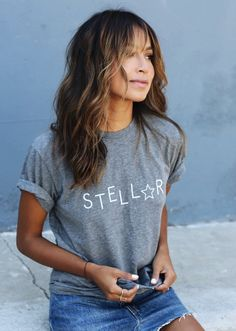 Sincerely Jules STELLAR TEE - GREY