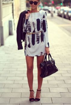 A wonderful look for spring days with an amazing little dress