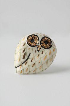Calico Owl Knob  #anthropologie