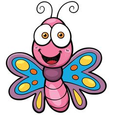 Illustration about Vector Illustration of Butterfly cartoon. Illustration of insect, cartoon, antenna - 51224538 Butterfly Cocoon, Butterfly Mosaic, Butterfly Clip Art, Butterfly Drawing, Bat Vector, Fish Vector, Vector Free, Cartoon Design, Cartoon Styles