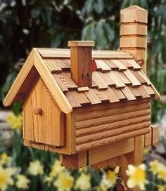 Country Cottage Mailbox I Like The Chimney Yard Pinterest Design Creative And House