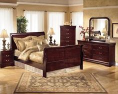 Ashley Four-Piece King Bedroom Set - Nebraska Furniture Mart