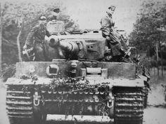 Tiger I ausf E, number 232 of the Schwere SS-Panzer Abteilung 101 (101st SS Heavy Panzer Battalion), commander: Unterscharführer Kurt Kleber. 14 June 1944 Normandy.
