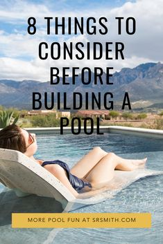 So before diving in, here are some things to consider to help you decide where a swimming pool fits into your life. Building A Swimming Pool, Swimming Pools Backyard, Swimming Pool Designs, Pool Landscaping, Epic Pools, Cool Pools, Pool Rails, Pool House Plans, Pool Contractors