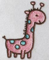 Giraffe Dinosaur Embroidery Design