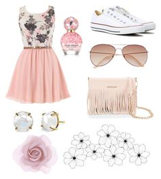 """summer day!"" by cassi-h ❤ liked on Polyvore featuring Accessorize, H&M, Converse, Rebecca Minkoff, Irene Neuwirth and Marc Jacobs"