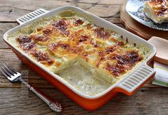 Gratinated potatoes (CC Eng Sub) Lasagna, Quiche, Mashed Potatoes, Macaroni And Cheese, French Toast, Food And Drink, Vegan, Breakfast, Ethnic Recipes