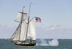 Tall ships reenact 1812 Battle on Lake Erie. History in the making at Put-in-Bay, Ohio to celebrate the Battle of Lake Erie Bicentennial via Navy Times.