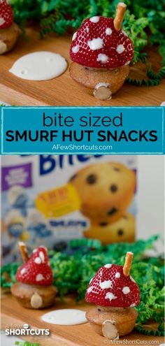 Celebrate the new Smurf The Lost Village Movie with these fun Bite Sized Smurf Hut Snacks made with Entenmann's® Little Bites®! Baby Shower Food For Girl, Baby Shower Snacks, Boy Baby Shower Themes, Melting White Chocolate, Dinner And A Movie, Girl Cupcakes, Boy Decor, Kids Meals, Daycare Meals