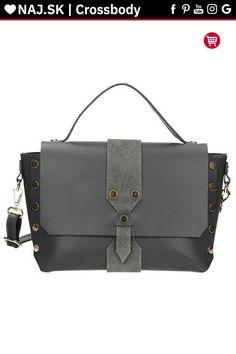 Kabelka kufrík Vera Pelle Sivá KR-026 GREY-019 Satchel, Shoulder Bag, Grey, Bags, Fashion, Gray, Handbags, Moda, Fashion Styles
