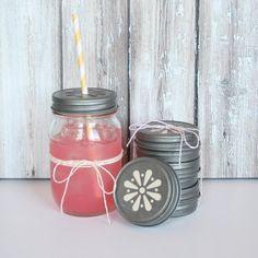 Back in stock!! Daisy Cut Mason Jar Lids: http://shoptomkat.com/item_265/Vintage-Daisy-Cut-Mason-Jar-Lids--Set-of-6.htm