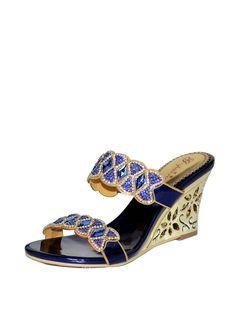 Shop Slippers - Blue Rhinestone Dress PU Slipper online. Discover unique designers fashion at StyleWe.com.