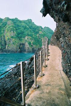 Coastal walking path to Jedong, Dokdo Island, South Korea