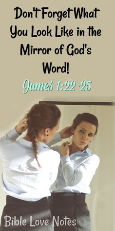Self-deception is a deadly path. This devotion explains our need to use God's Word as a mirror that we look into intently. Bible Verses Quotes, Bible Scriptures, Bible Words Images, Bible Doodling, Song Words, Daily Devotional, Daily Bible, Bible Love, Inspirational Prayers