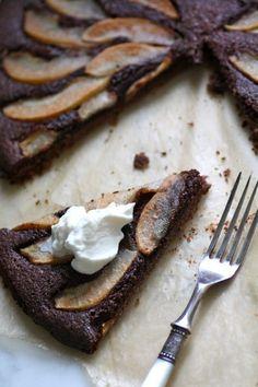 Pear + Chocolate Tart
