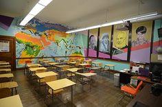 Social Studies Classroom Murals. I'd love to have thus classroom.