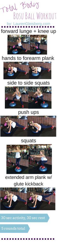 Total Body Bosu Ball Workout - 10/29 (via Bloglovin.com )