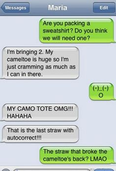 Omg i think i just peed! My Top 25 Favorite Autocorrect Fails. Not family friendly but these make me laugh like a loon! Can't Stop Laughing, Laughing So Hard, Haha Funny, Funny Texts, Funny Stuff, Funny Things, Funny Shit, Drunk Texts, Freaking Hilarious