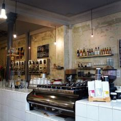 Coutume Café - a top notch coffee house in Paris with self-declared 'artisans'. Seriously though, the coffee is excellent!