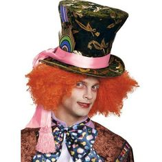Alice In Wonderland - Mad Hatter Hat - Walmart.com. Cappelli Cappellaio  MattoCostumi Cappellaio MattoCostumi Da Carnevale Per Adulti 800ab4a4cdc6
