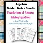 This is a guided, color-coded notebook page for the interactive math notebook bundle on solving equations. Notebook pages include color-coded note. Interactive Math Journals, High School Organization, Combining Like Terms, Algebraic Expressions, Solving Equations, Getting Things Done, Mathematics, Teaching Ideas, Vocabulary