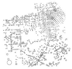 """""""San Francisco pedestrian injury risk map, by Eric Fisher"""" Plano de accidentes de peatones de San Francisco realizado por Eric Fisher los círculos más grandes repr"""