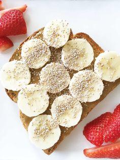 Sun Butter, Banana & Chia Seed Toast — The Skinny Fork