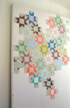 Sparkle Punch quilt by Heather of A La Mode Fabric in Hello Pilgrim prints with Essex Linen solid via Flickr