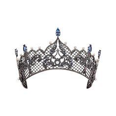 "Axenoff Jewellery Tiara"" Anna Vizantiyskaya "", silver, blue topaz, pearls"